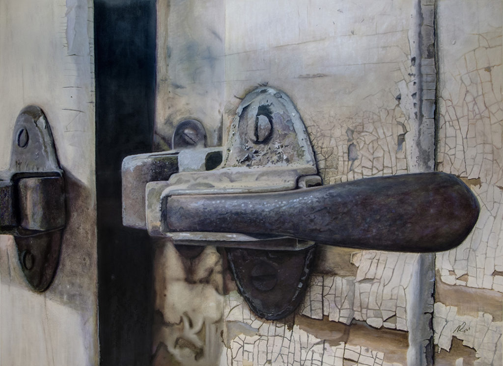 "Worn Not Rusted, watercolor and pastel, 38"" x 28"" by Ron Doyle"